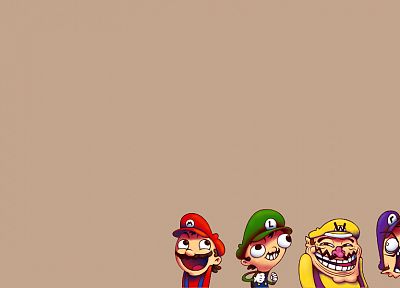 Mario, faces - desktop wallpaper