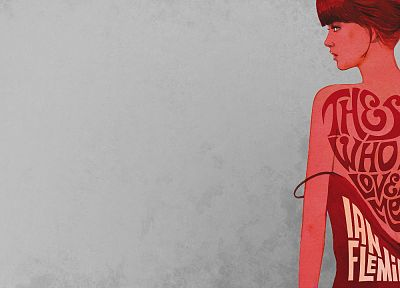 women, movies, James Bond, artwork, shoulders, The Spy Who Loved Me - related desktop wallpaper