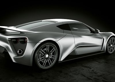 cars, vehicles, Zenvo ST1, Zenvo, black background, rear angle view - related desktop wallpaper