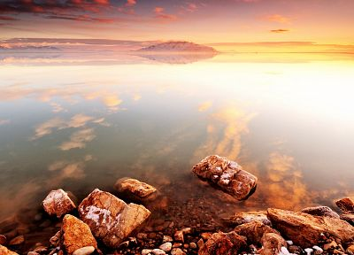 sunset, landscapes, nature, reflections - related desktop wallpaper