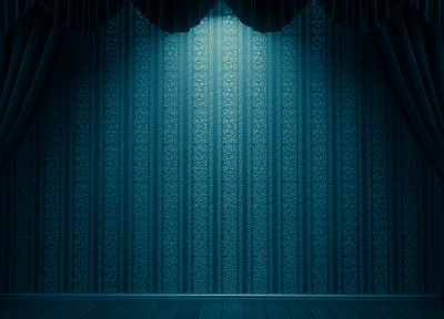 abstract, curtains, Aqua - desktop wallpaper