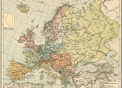 Europe, maps, ancient - random desktop wallpaper