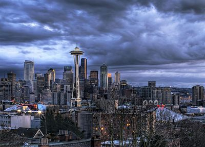 cityscapes, architecture, Seattle, buildings - related desktop wallpaper