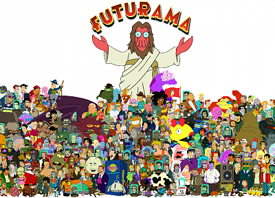 Futurama, Bender, Dr Zoidberg, Hermes, Amy Wong, Professor Farnsworth, Turanga Leela, Zapp Brannigan, Philip J. Fry - related desktop wallpaper