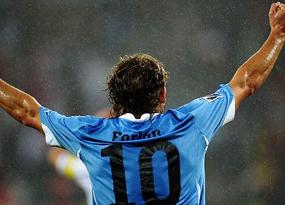sports, soccer, Uruguay, Diego Forlan - random desktop wallpaper