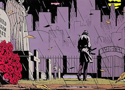 Watchmen, Rorschach, The Comedian, cemetery, roses - random desktop wallpaper