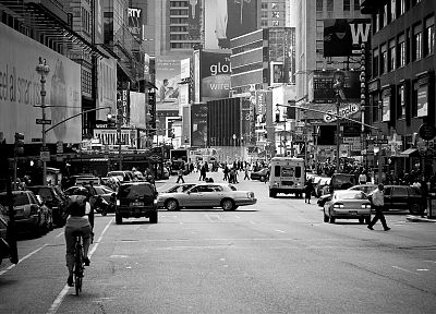 streets, traffic, New York City, hardscapes, Broadway - random desktop wallpaper