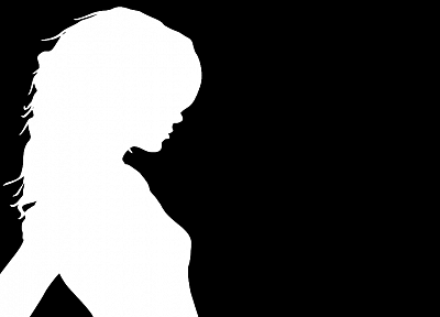 women, black and white, minimalistic, silhouettes - related desktop wallpaper