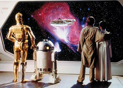 Star Wars, movies, C3PO, R2D2, Luke Skywalker, Carrie Fisher, Millennium Falcon, Leia Organa, science fiction, Mark Hamill, Star Wars: The Empire Strikes Back - related desktop wallpaper
