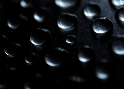 water drops, macro - random desktop wallpaper