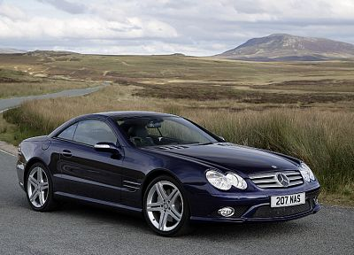 cars, Mercedes-Benz, German cars, Mercedes SL55 AMG - random desktop wallpaper