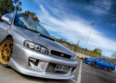 cars, silver, Subaru, vehicles, HDR photography, Subaru Impreza WRX, Subaru Impreza WRX STI - related desktop wallpaper