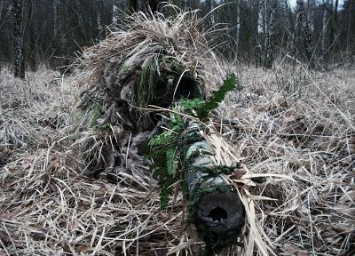 forests, snipers, camouflage, ghillie suit - random desktop wallpaper