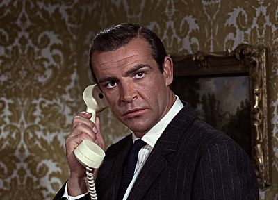 men, James Bond, Sean Connery, From Russia with Love, phones - random desktop wallpaper