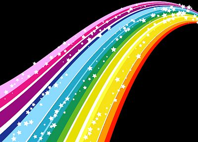 multicolor, stars, DeviantART, rainbows - related desktop wallpaper