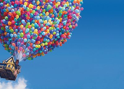 Up (movie), balloons - random desktop wallpaper
