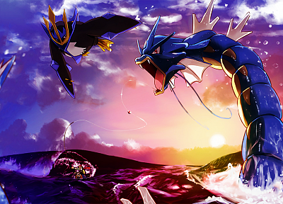 Pokemon, Empoleon, Gyarados, upscaled - related desktop wallpaper