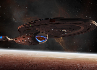 outer space, Star Trek, planets, spaceships, 3D, Voyager 1 - related desktop wallpaper