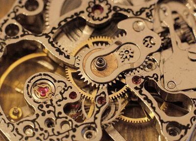 clocks, gears, watches - desktop wallpaper