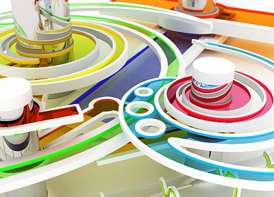 abstract, multicolor, CGI, K3 Studio - desktop wallpaper