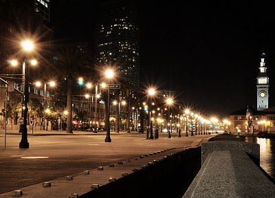 cityscapes, streets, night - random desktop wallpaper