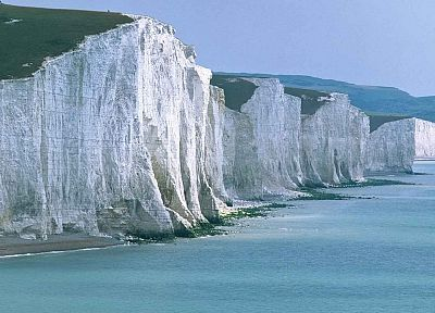 England, cliffs, seven sisters cliff, sea - random desktop wallpaper
