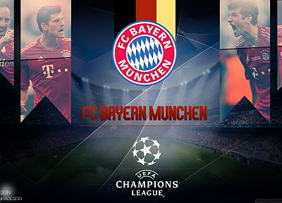 sports, soccer, Champions League, football teams, Bayern, Uefa Champions League, bayern munich, Bundesliga, Bayern Munchen, football players - related desktop wallpaper