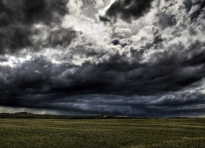 clouds, landscapes, fields, overcast - random desktop wallpaper