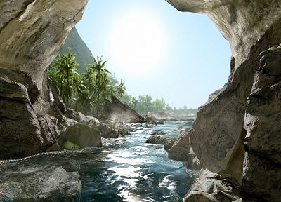 caves, Crysis - random desktop wallpaper