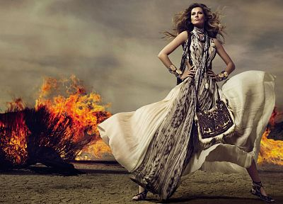 women, models, fashion, celebrity, Gisele Bundchen - desktop wallpaper