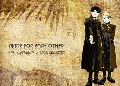 Fullmetal Alchemist, Roy Mustang, Riza Hawkeye - related desktop wallpaper