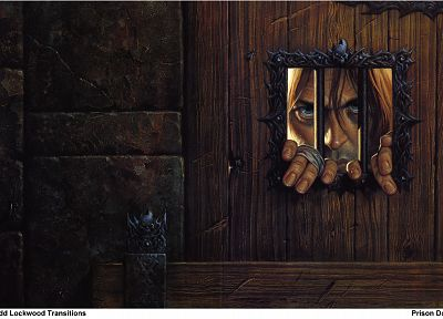 fantasy art, prison, Dungeons and Dragons, Todd Lockwood, faces, forgotten realms, prisoner - desktop wallpaper