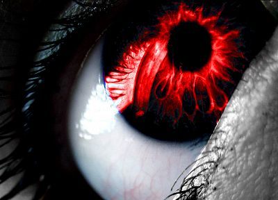 abstract, eyes, red, selective coloring - related desktop wallpaper