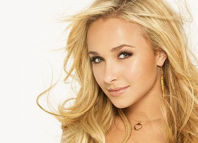 blondes, women, actress, Hayden Panettiere, celebrity, faces, white background - related desktop wallpaper