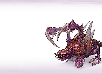 video games, Zerg, artwork, StarCraft II, simple background, Zergling - related desktop wallpaper