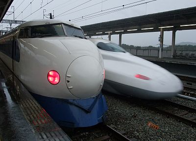 trains, railroad tracks, vehicles, Shinkansen - related desktop wallpaper