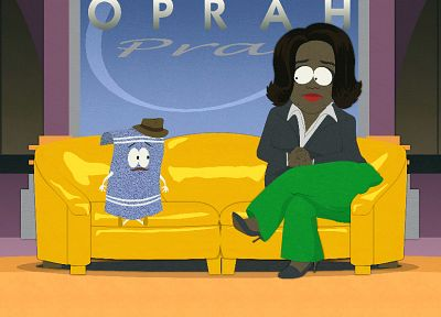 South Park, Oprah Winfrey, Towelie - random desktop wallpaper