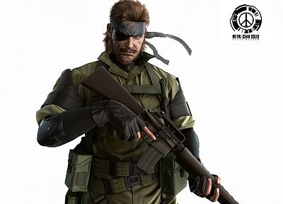 video games, Metal Gear Solid, Peace Walker, Naked Snake, white background - related desktop wallpaper