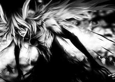 Bleach, Espada, monochrome, Ulquiorra Cifer - random desktop wallpaper