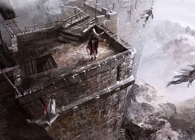 video games, castles, Assassins Creed, Altair Ibn La Ahad, buildings, concept art, medieval - random desktop wallpaper