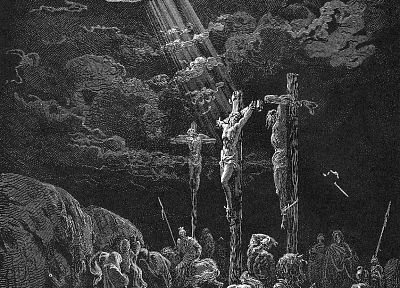 Bible, Jesus Christ, Gustave Dore, crucified - random desktop wallpaper