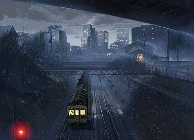 snow, Makoto Shinkai, 5 Centimeters Per Second - random desktop wallpaper