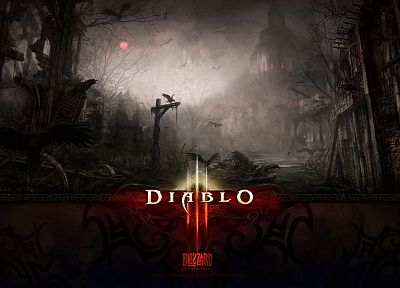 video games, Diablo, logo design - random desktop wallpaper