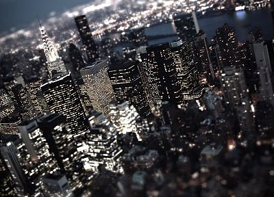cityscapes, buildings, New York City, tilt-shift - related desktop wallpaper