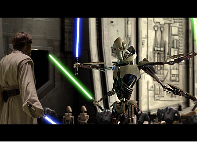 Star Wars, lightsabers, General Grievous, Obi-Wan Kenobi - related desktop wallpaper