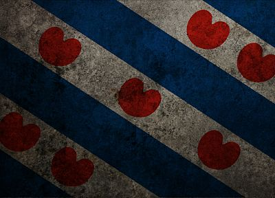 flags, hearts, Friesland - random desktop wallpaper