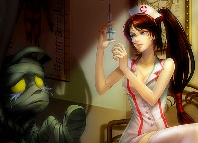 League of Legends, nurses, Amumu, Akali - related desktop wallpaper