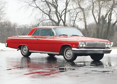red cars, Chevrolet Impala - random desktop wallpaper