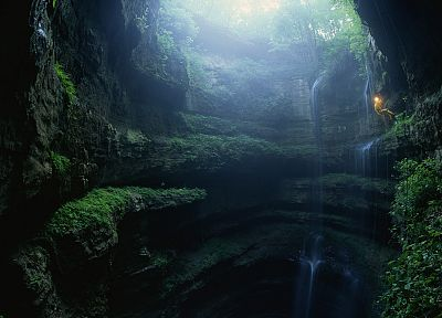 nature, caves, Mexico, abyss - desktop wallpaper