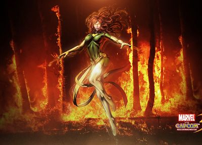 video games, Marvel vs Capcom, artwork, Marvel vs Capcom 3, Dark Phoenix - related desktop wallpaper